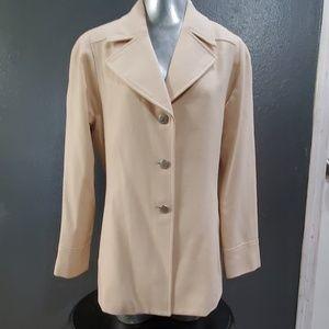 A Line Anne Klein Cream Color Size 10 Coat